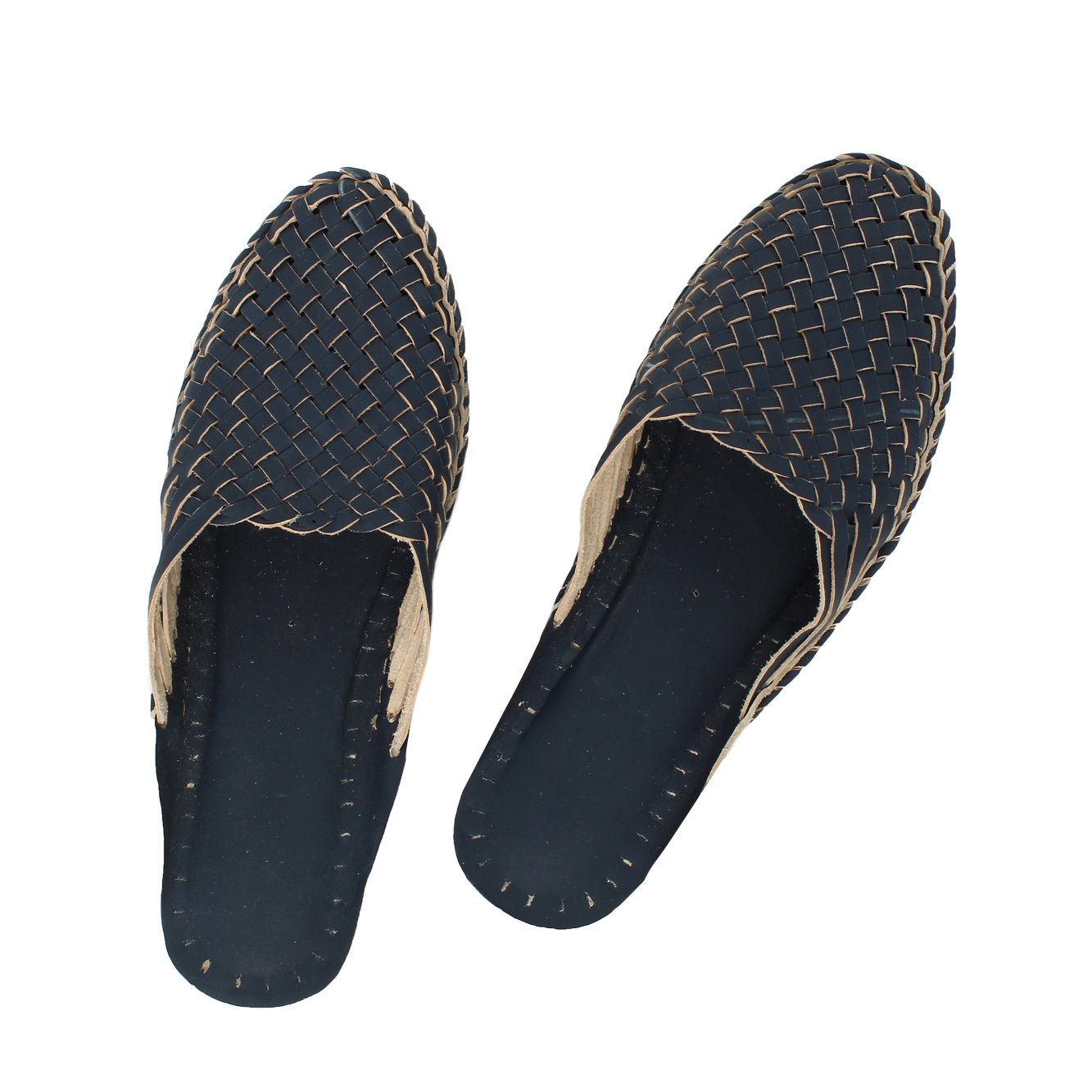 Premium Quality Gorgeous Dark Blue Wedding Kolhapuri  Half Leather Shoe for Men KRKA-P-M-137