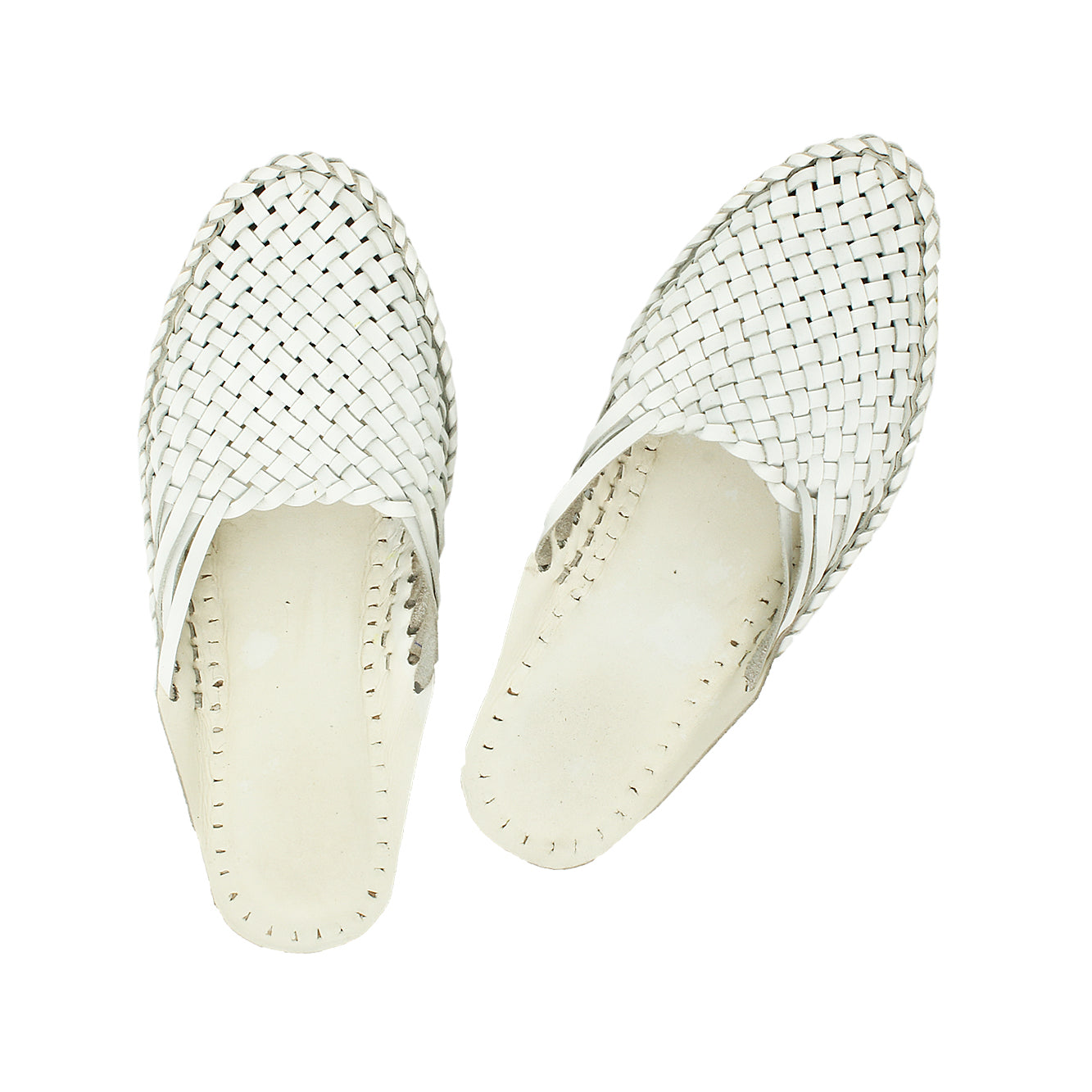 Premium Quality Remarkable White Formal Kolhapuri  Half Leather Shoe for Women KRKA-P-W-196