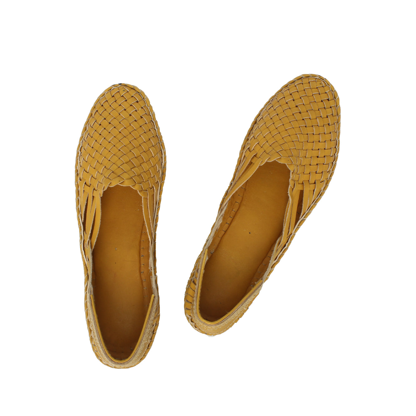 Premium Quality Elegant Yellow Kolhapuri  Half Leather Shoe for Women KRKA-P-W-199