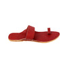 Indian Ethnic Cherry Red Leather Kolhapuri Chappal for Women KRKA-P-W-224