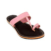 Premium Quality Pink and Brown Flat Heel  Leather Kolhapuri Slipper for Women KRKA-P-W-236