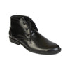 Prudently Handmade in High Glossy Soft Black Leather Boot for Men KRKA-S-023
