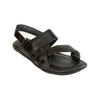 Comfortable Handmade Open Black Leather Sandal for Men KRKA-S-038