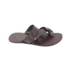 Easy to Use  Handmade Cross Belt Brown Leather Gents Chappal KRKA-S-048