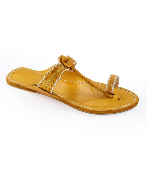 Awesome designer's yellow kolhapuri for women KRKA-W-187