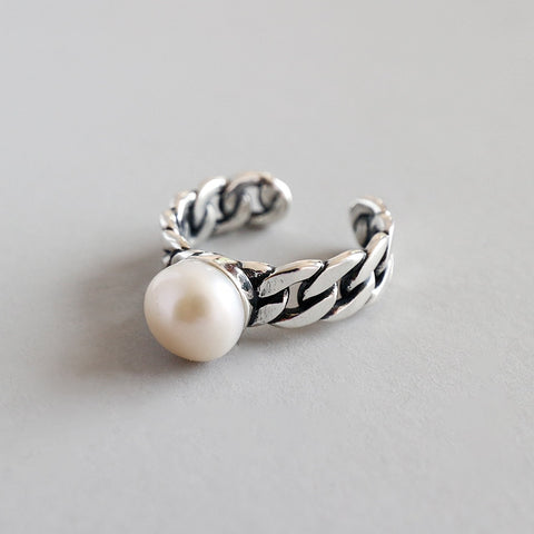 Pearl and Chain Ring