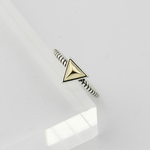 Gold triangle resizable ring
