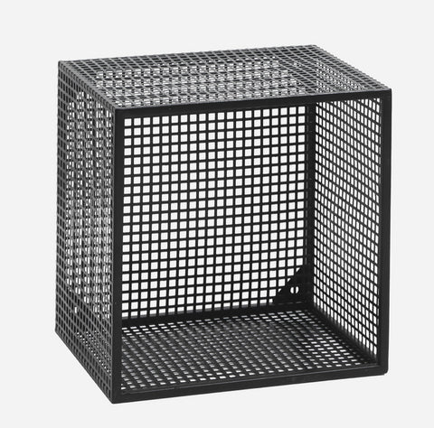 Nordal 2 stk. WIRE box for wall, black, S - NordlyHome.dk