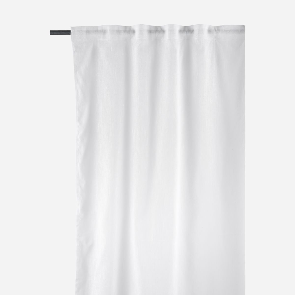Image of   Curtains, Plain, White, Set of 2 pcs