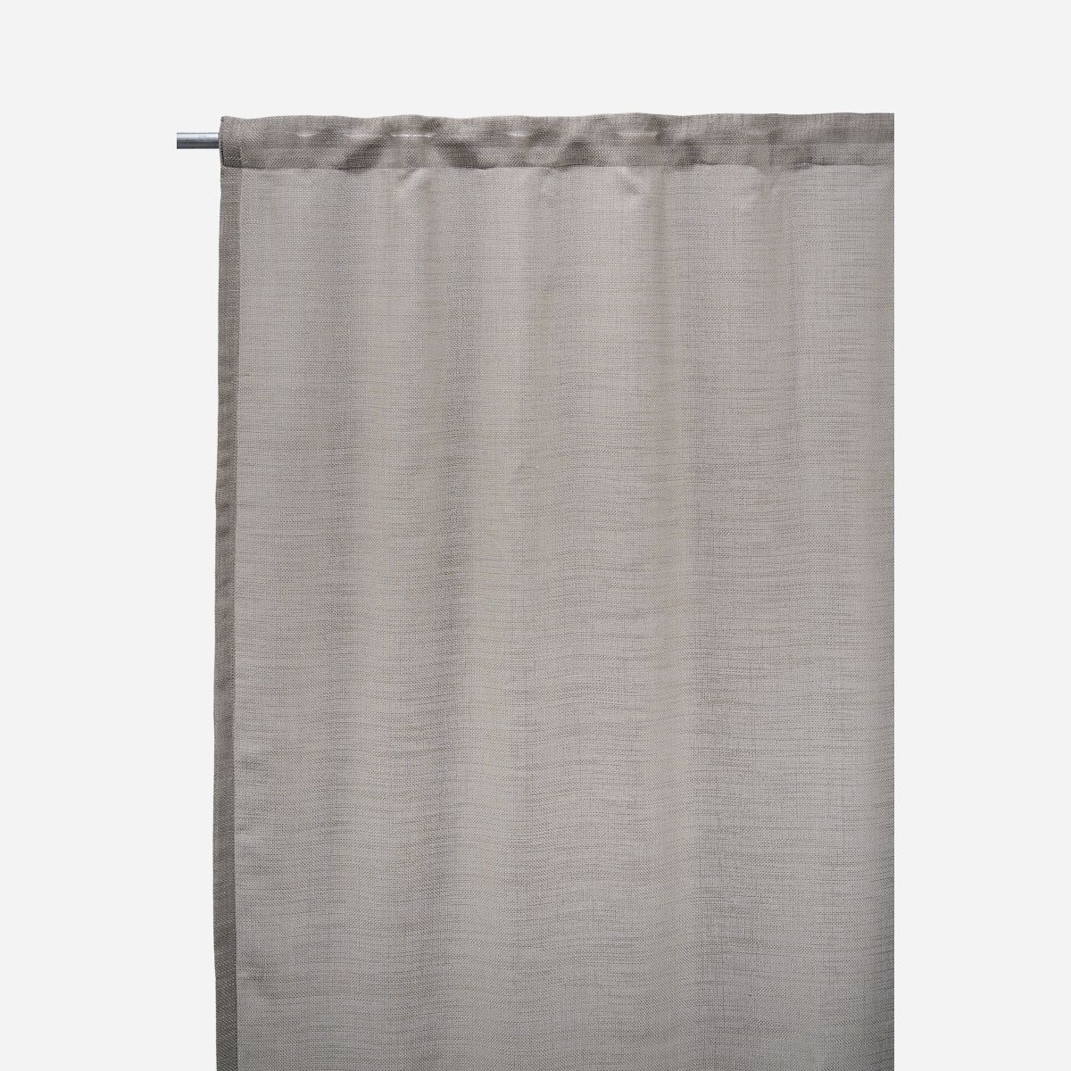 Image of   Curtains, Plain, Grey/Brown, Set of 2 pcs