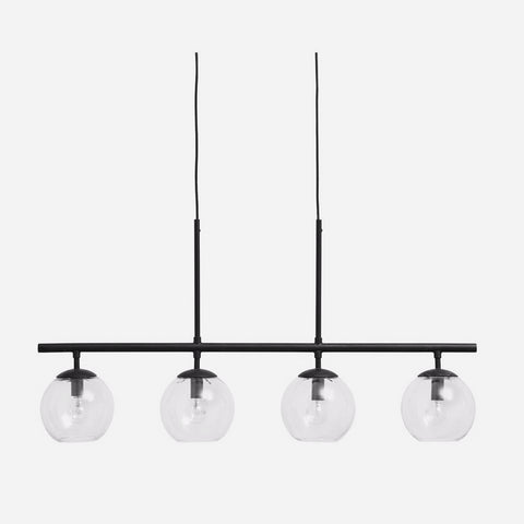 GLOBE lamp, 4-in-one, black, hanging