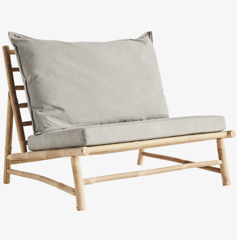 Tine K. Home Bamboo lounge stol m. pude W100x87xH45/80cm - NordlyHome.dk