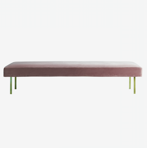 Velour daybed med ben i messing, port