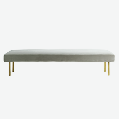 Velour daybed med ben i messing, kit