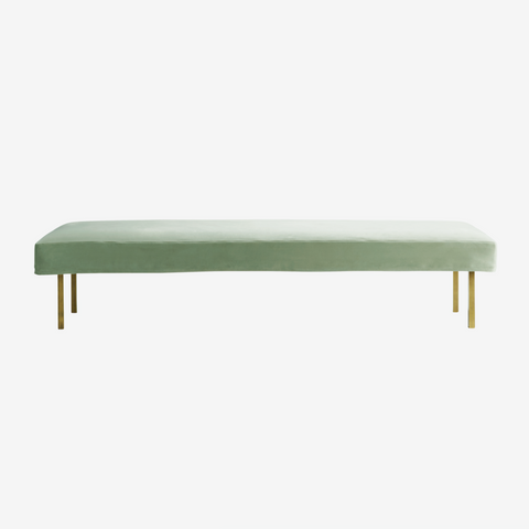 Velour daybed med ben i messing, mos
