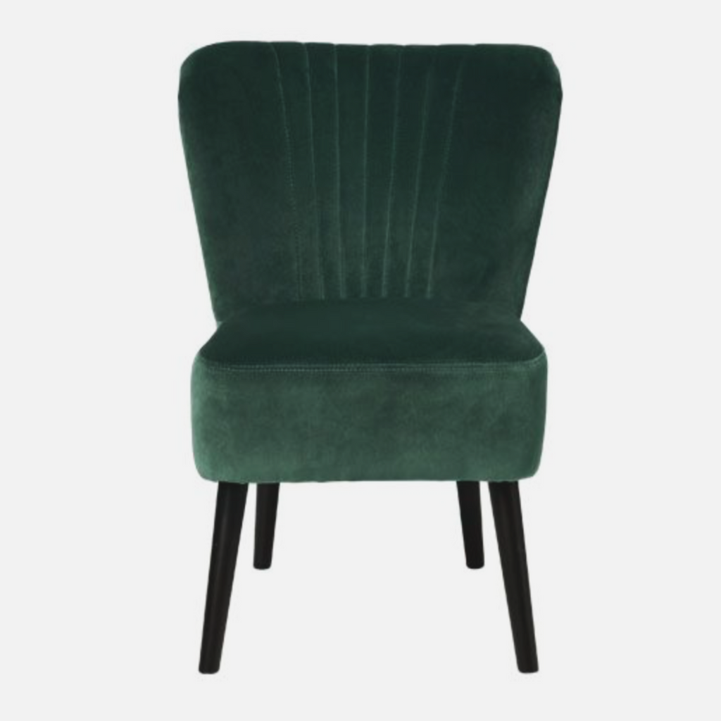 Copenhagen Lounge - Velvet - Deep Forrest with oak colored legs