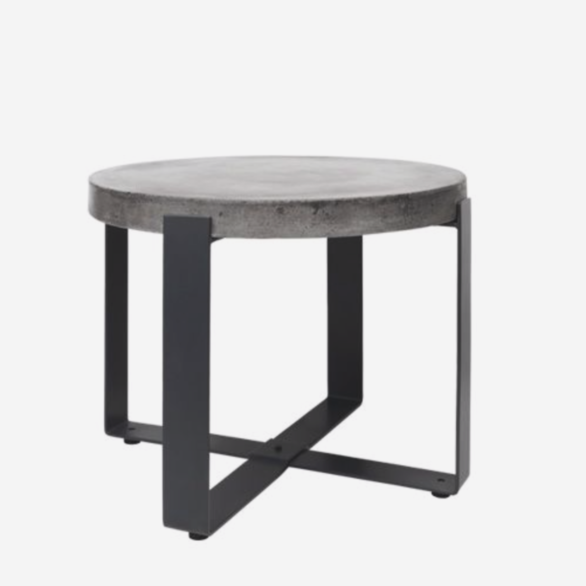cozy living Concrete side table - round - low på nordlyhome.dk
