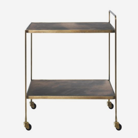 Bar cart Anne - Antique brass