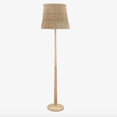Creative Collection Gulv Lampe, Natur, Rattan - NordlyHome.dk