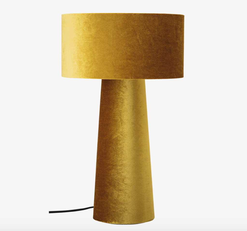 Image of   Bordlampe, Gul, Polyester