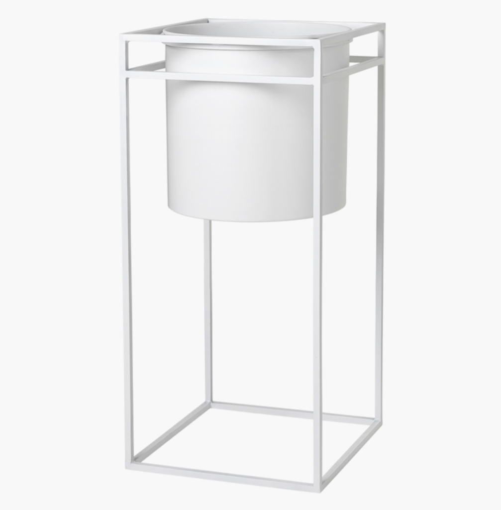 cozy living Flower stand nordic-white-l* fra nordlyhome.dk