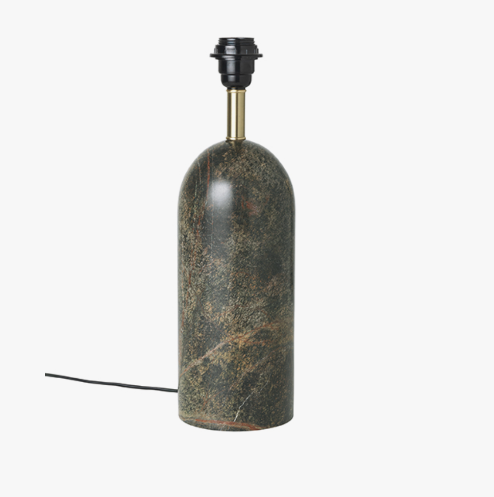 Image of   Asta Marble Lamp Base-GREEN