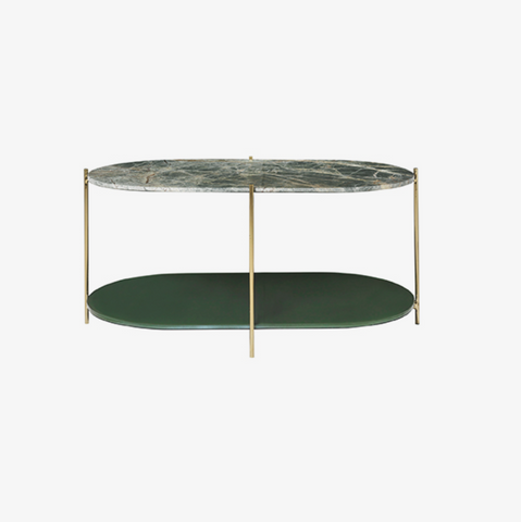Cozy Living Siff Oval Marble Table-GREEN - NordlyHome.dk