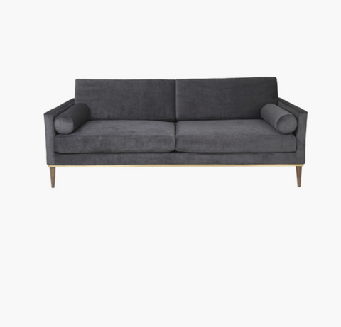 Cozy Living Club Couch - Velvet - STEEL* - NordlyHome.dk