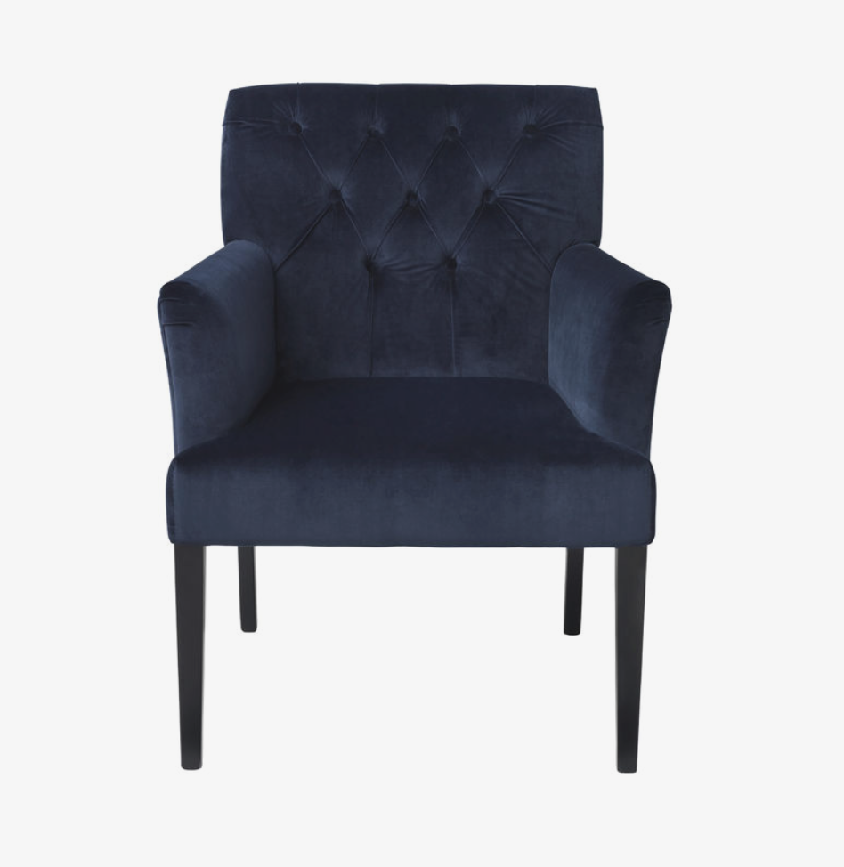 Cozy Living Chair - Sander -Velvet-R BLUE - NordlyHome.dk