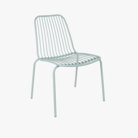 Outdoor chair Lineate metal green