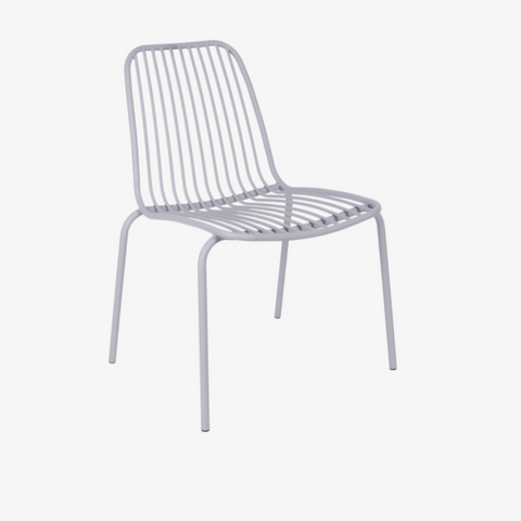 Outdoor chair Lineate metal grey