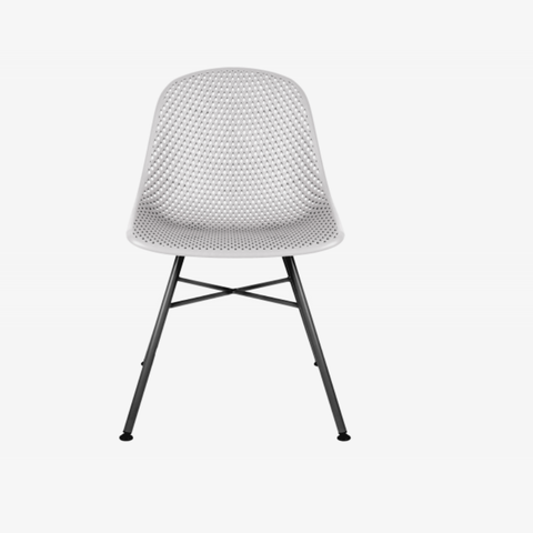 Dining chair Diamond Mesh light grey