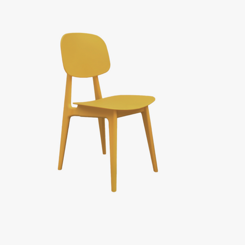 Dining chair Vintage yellow