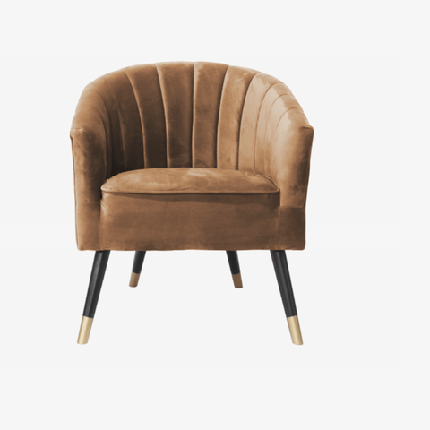 Chair Royal velvet caramel brown