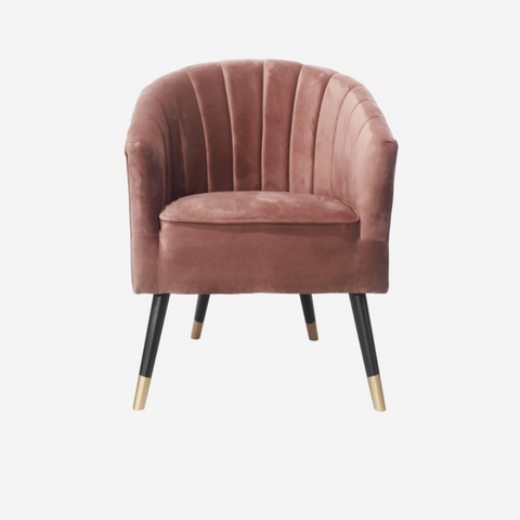 Chair Royal velvet mauve pink