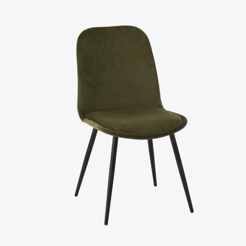 CHAIR CLAIRE METAL/TEXTILE GRN