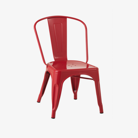 CHAIR BISTRO METAL RED