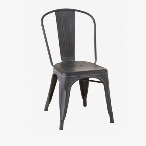 CHAIR BISTRO METAL BLACK