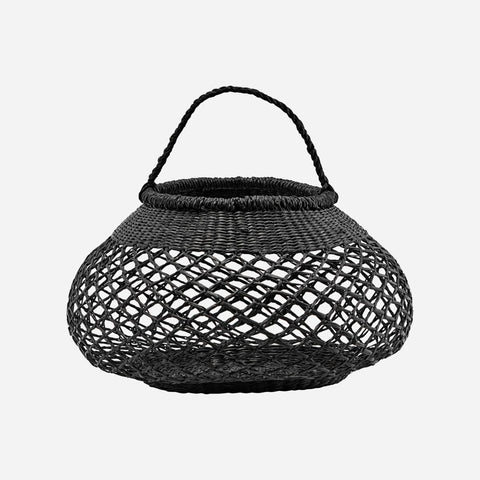 House doctor Basket, Sea, Black - NordlyHome.dk