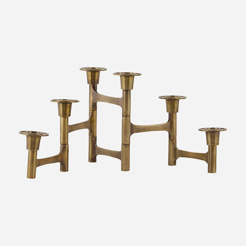 House doctor Candle stand w. 6 cups, Move, Brass - NordlyHome.dk