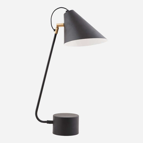 BORDLAMPE, CLUB, SORT/HVID