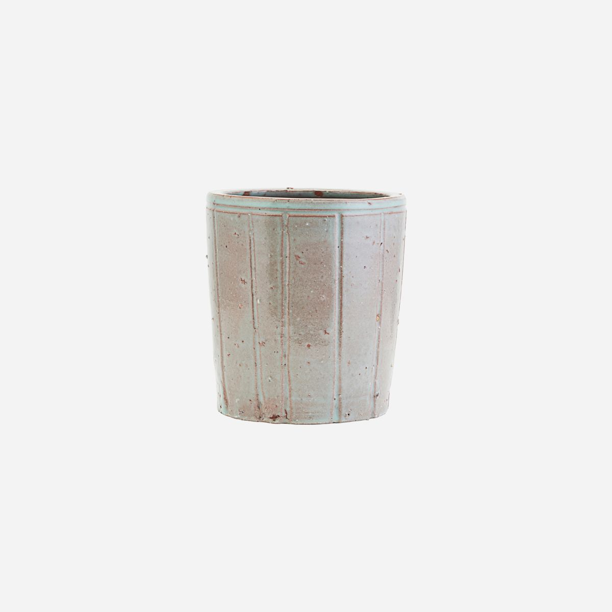 Image of   Planter, Julian, Grey/Green, Finish/Colour may vary