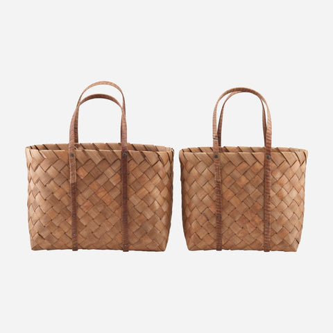 House doctor Beach taske, Brown, Set of 2 sizes - NordlyHome.dk