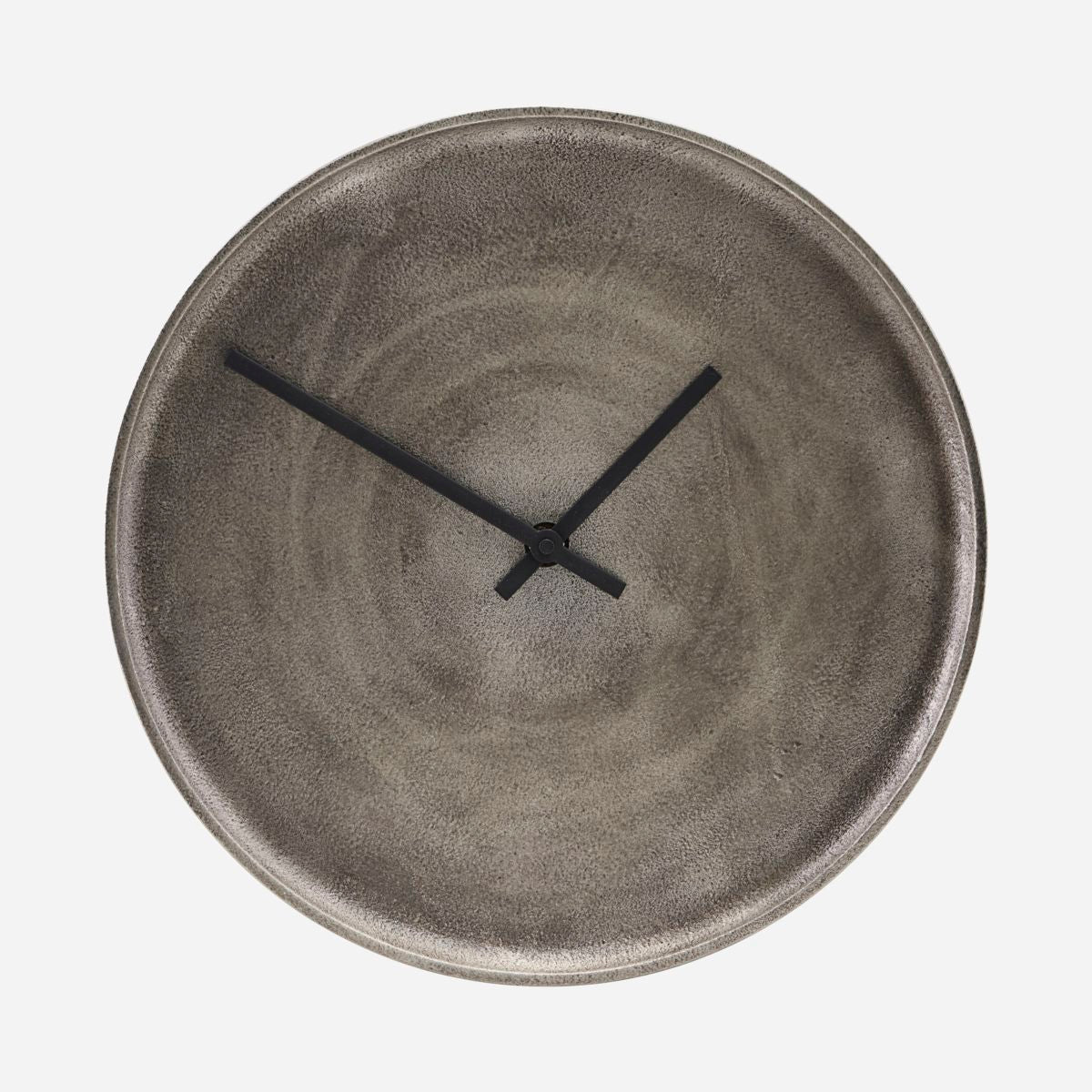 Image of   Clock, Curva, Silver oxidized, Battery AAA