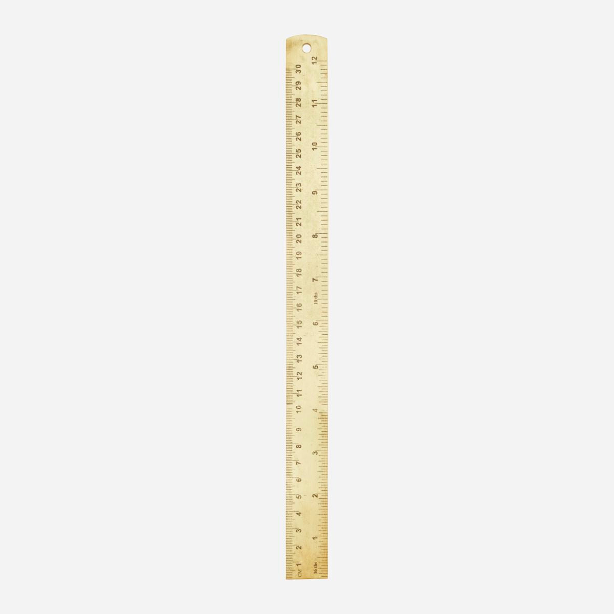 Lineal, Messing - l: 17.5 cm