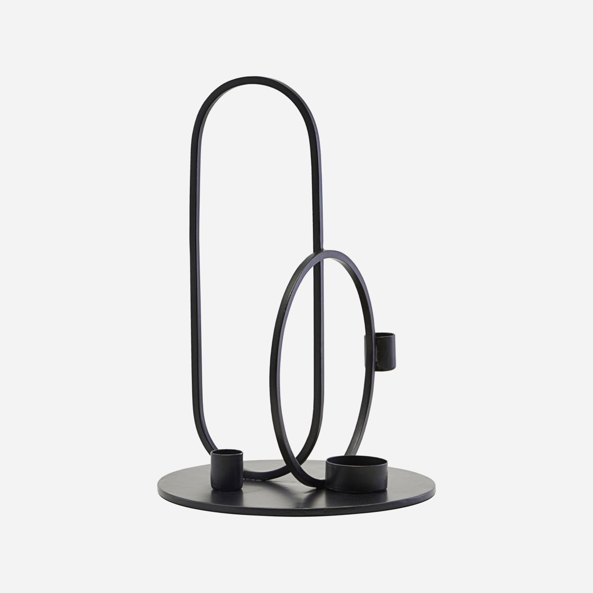 Image of   Candle stand, Cirque, Black - h: 33 cm