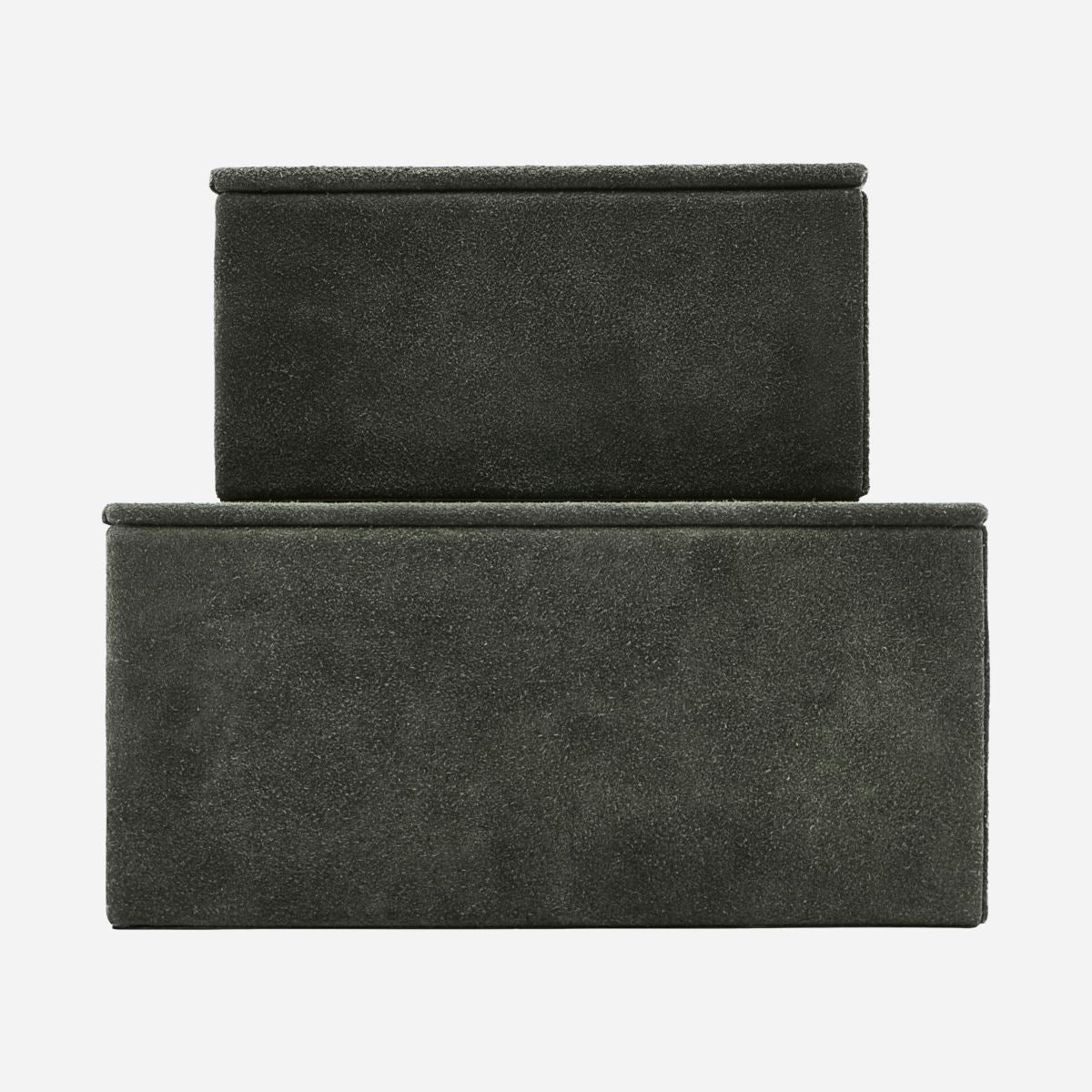 Storage, Suede, Green, Set of 2 sizes