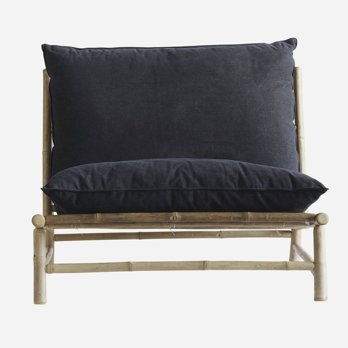 Image of   Bamboo lounge stol m. pude W100x87xH45/80cm