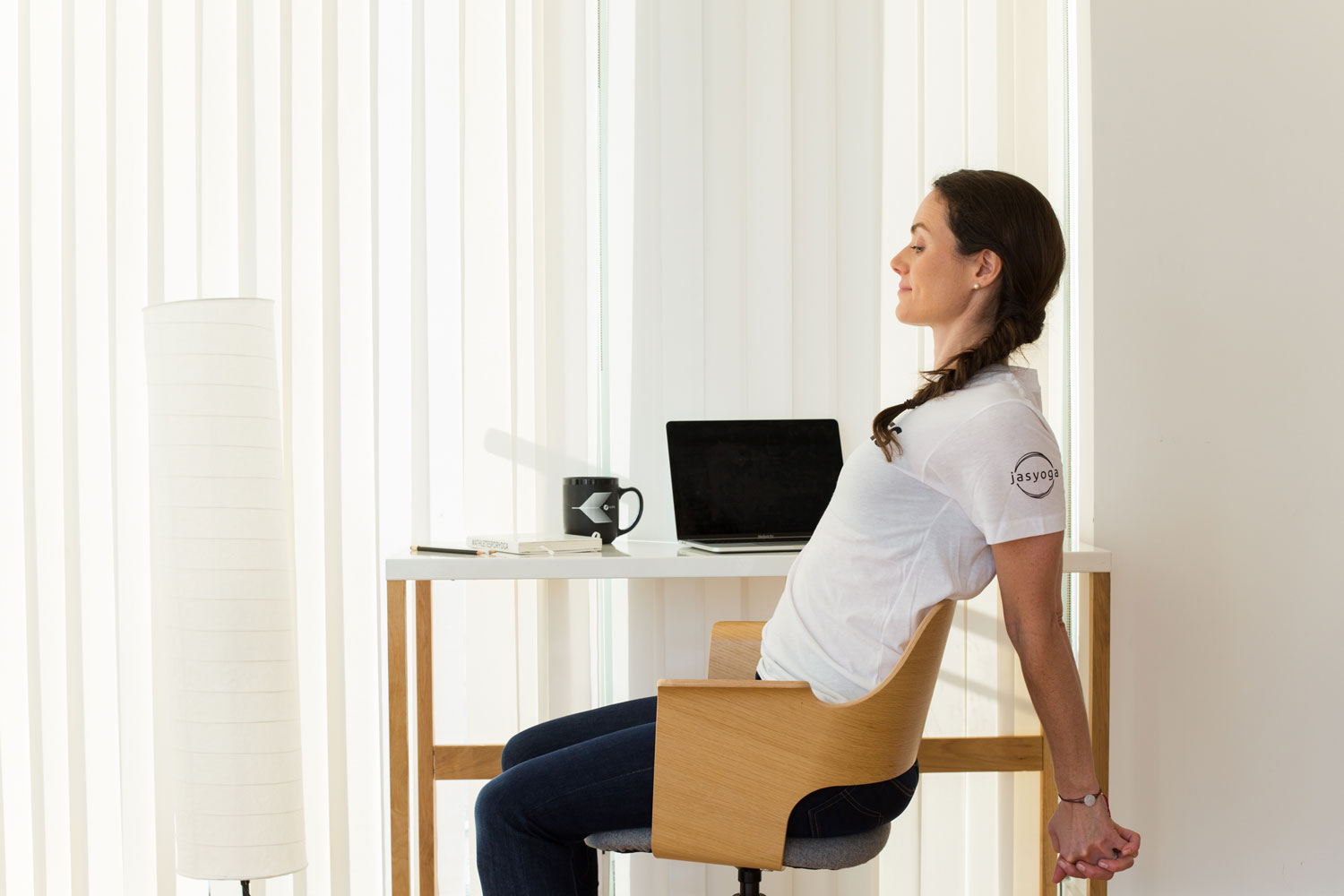 Chair Yoga while seated at desk.