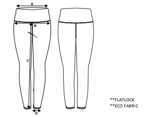 Eco Leggings Size Diagram